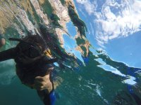 practice snorkeling in the sea of ​​cuts