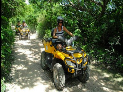 Quad route, lagoons and zip-line