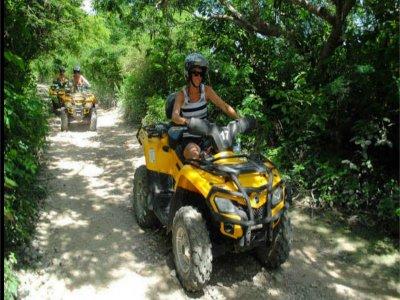 Recorrido en cuatrimoto, cenotes y zipline