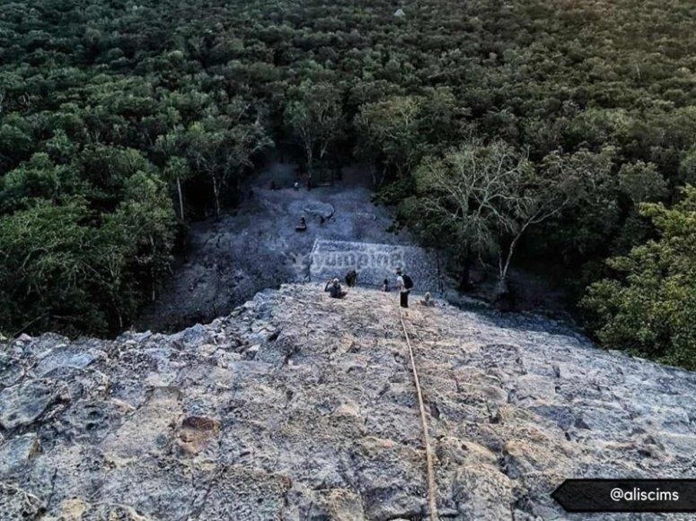 Foto desde la cima de la pirámide