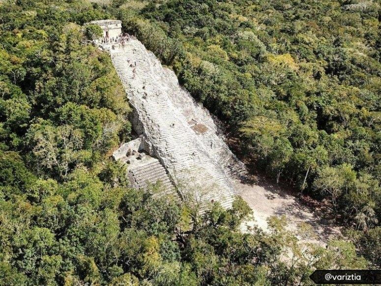 Vista panoramica de la zona arqueologica