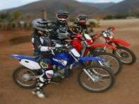 Motorcycles on enduro routes