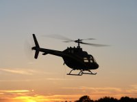 Romantic helicopter flight