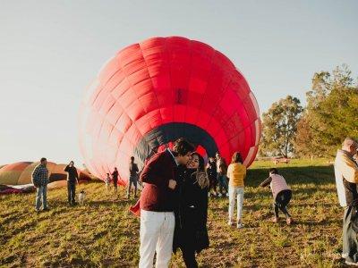 Vuelo romántico en globo por Huamantla y hospedaje