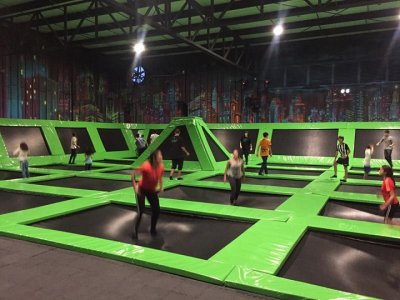 Party in a trampolines park