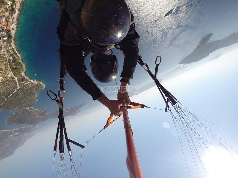 Enjoy the paragliding flight