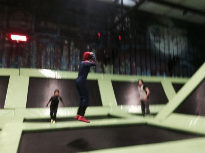 Party in the trampoline park