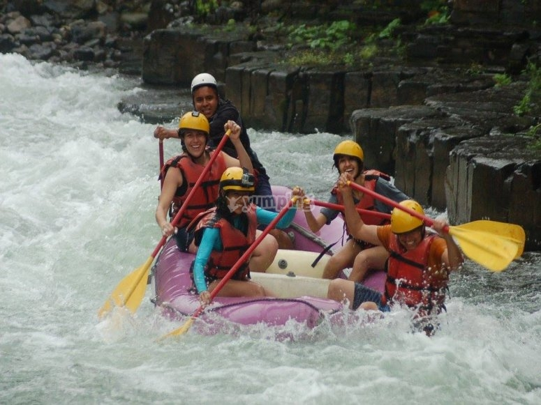 Rafting with our materials