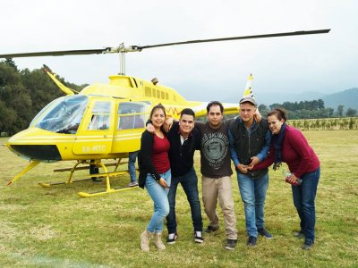 Helicopter tour for 4 people in Mexico City