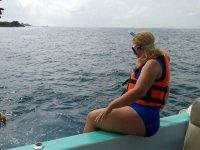 al agua con el snorkel