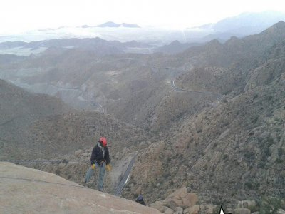 2 abseiling routes in La Rumorosa + transportation