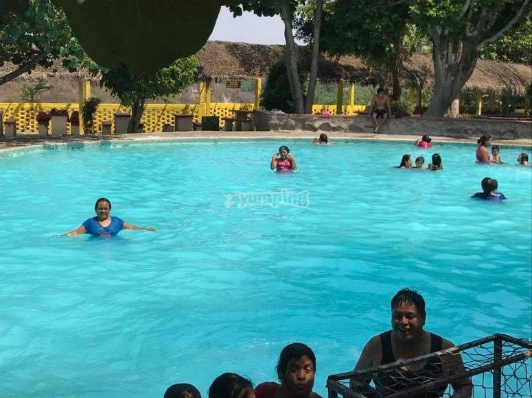 Have fun at the swimming pool