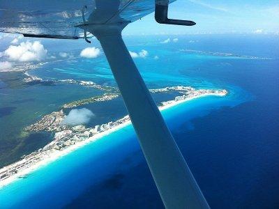Panoramic flight from Cancun, 45 min. flight