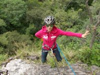 Rappelling is so much fun!