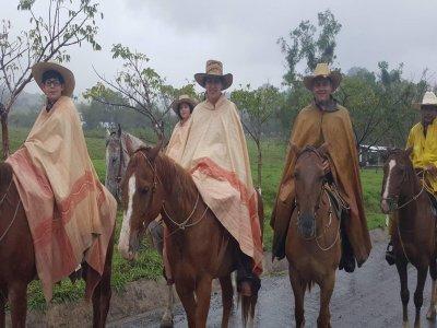 Horseback riding 3 hours through nature in Puebla
