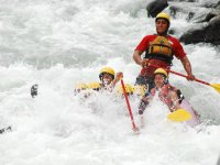 Extreme adventure in the river