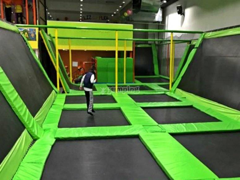 trampolines area