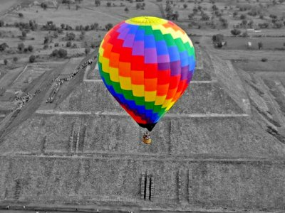Hot air balloon ride, Teotihuacan