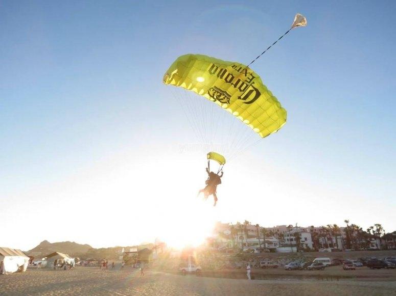 Gliding over the beach