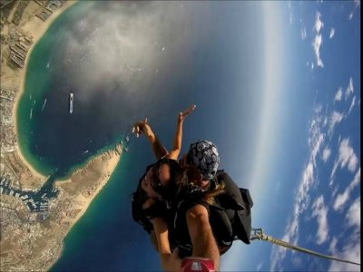 Skydiving from 8,500 feet in Los Cabos
