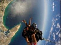 Parachute at 8,500 feet in Los Cabos