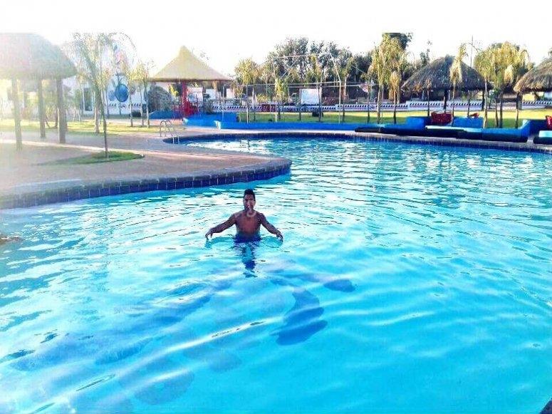 Kid in a pool