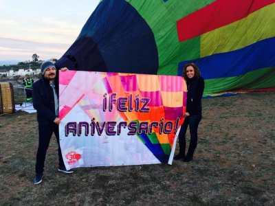 Hot air balloon ride at Tequisquiapan for 2
