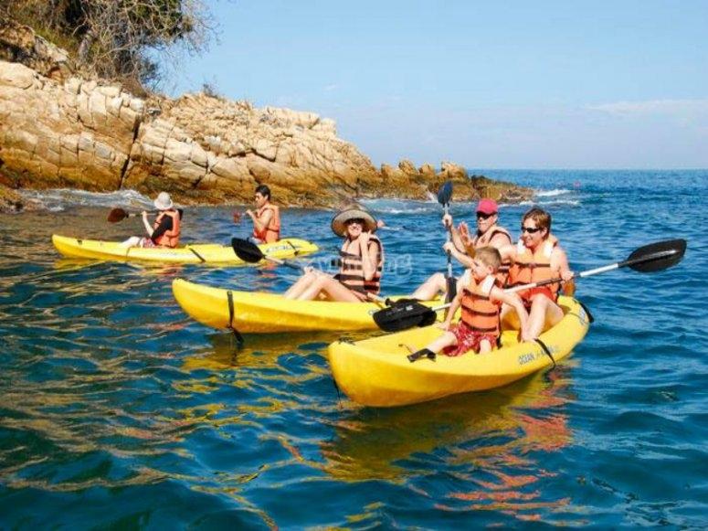 prueba el kayak