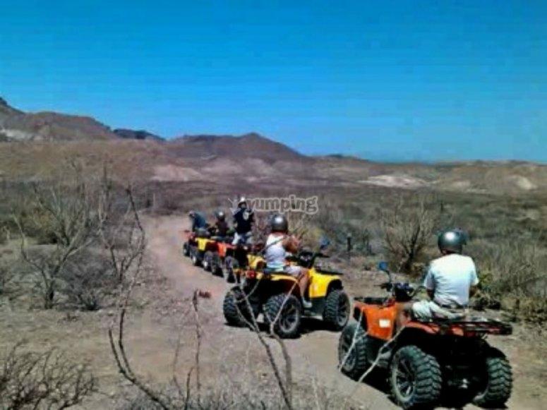 route through the desert
