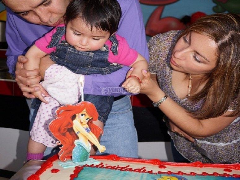 The little birthday girl