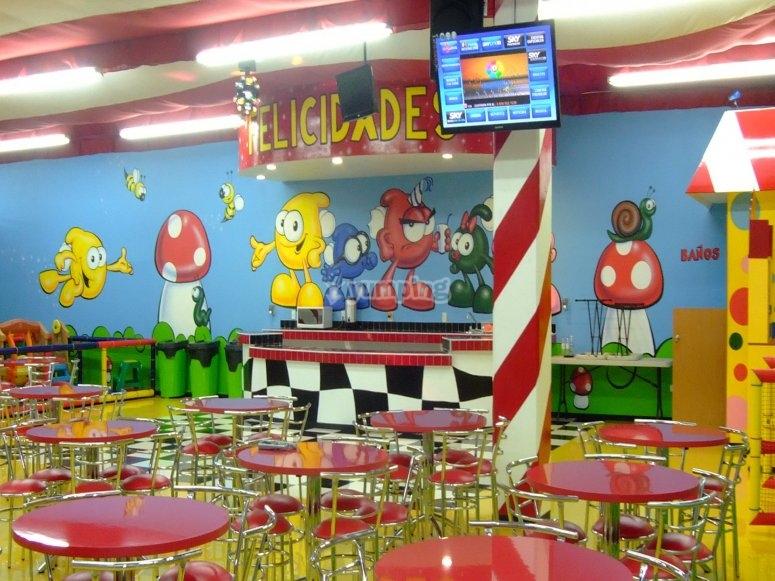The snacks area