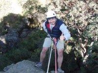 Descent of cliff