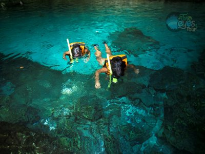 Yai-ku snorkeling + natural wells at Cancun