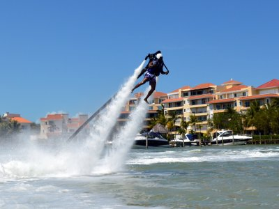 Jetpack flight,in Cancun for 30 minutes