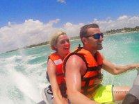 Jet ski and parasailing flight Punta Sam