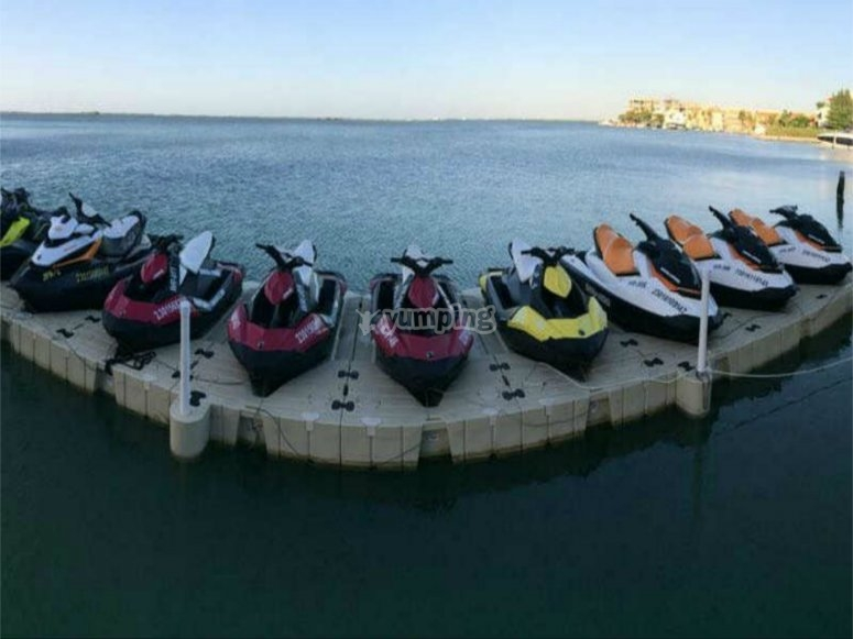 ranges of jet skis