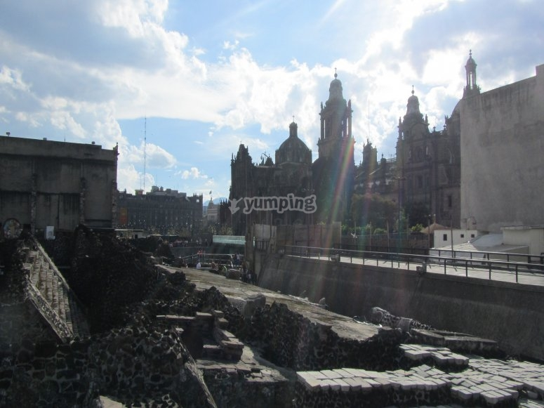 Templo Mayor and cathedral