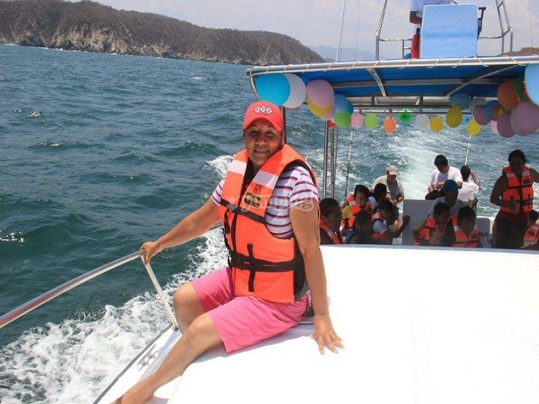 fiesta en barco.