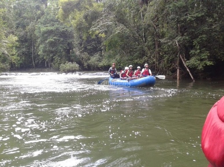 Speedboat in Chiapas