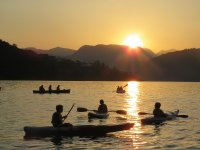 Enjoy a beautiful sunset on the lake of Valle