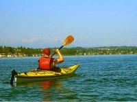 Enjoying a kayak ride on the lake of Valle