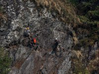Climbing with the group