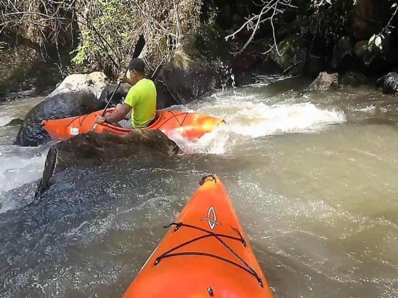 kayaking in nature