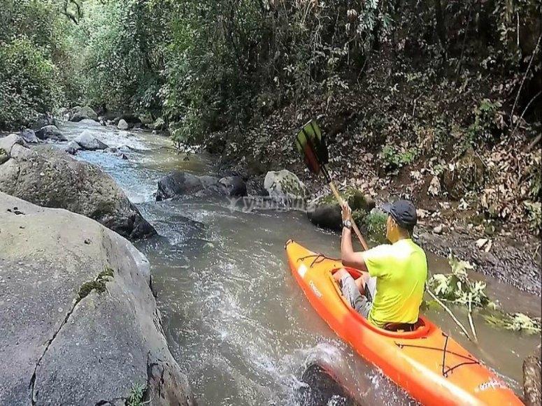 sail in a kayak