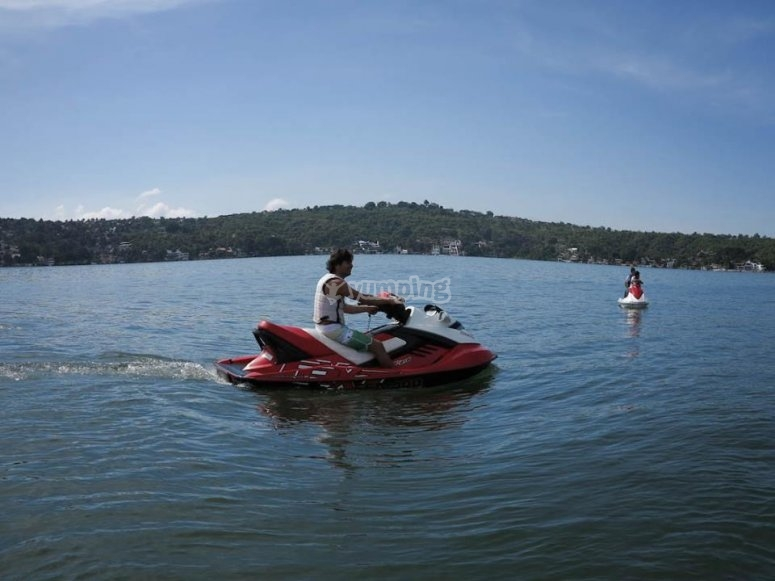 en las motos de agua