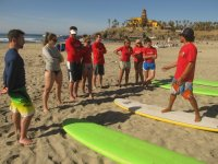 Instructores y surf