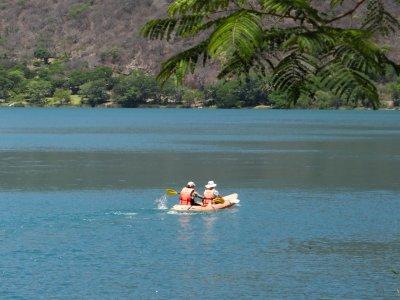 Tour laguna Santa Mª del Oro desde Vallarta, niños