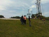 preparing paragliding