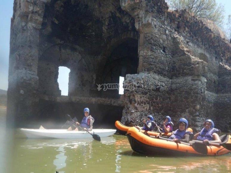 Ruta en kayak por la Presa Solís