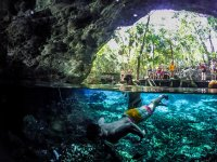 Swimming in cenote